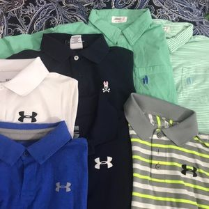 7-POLO t-shirts sz10 mixed new and used ⭐️⭐️⭐️⭐️⭐️